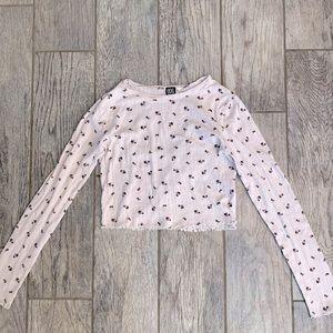 floral ditsy top